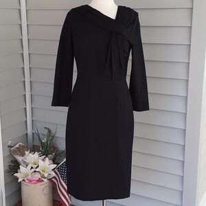 Neiman Marcus black three-quarter sleeve dress